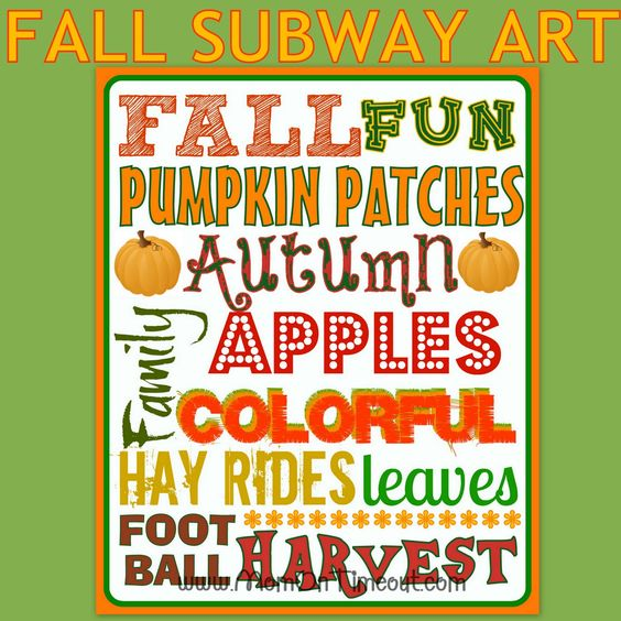 Fall Subway Art {FREE Printable}