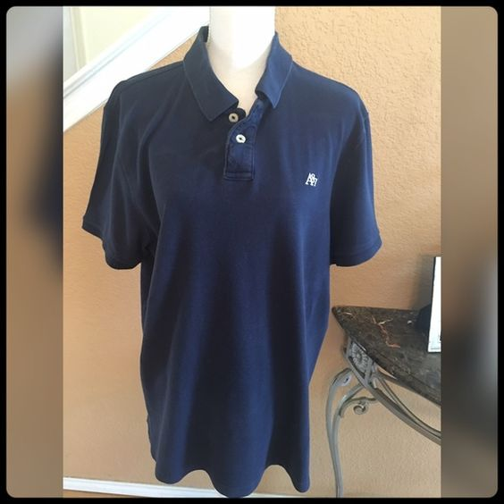 ✨ Navy Blue Polo Shirt✨ Worn only once. Unisex! Women or men can wear it. Great with jeans. Aeropostale Tops