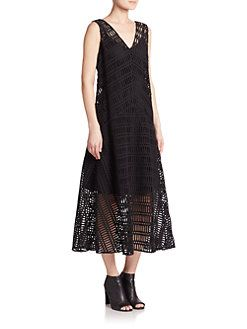 DKNY - Sleeveless Crochet Dress