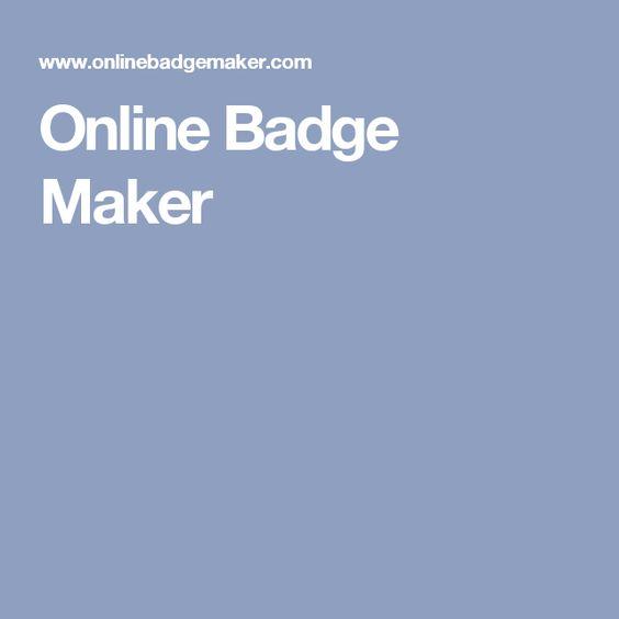 Online Badge Maker