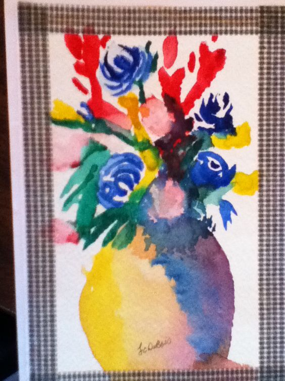 Art card made with water color
