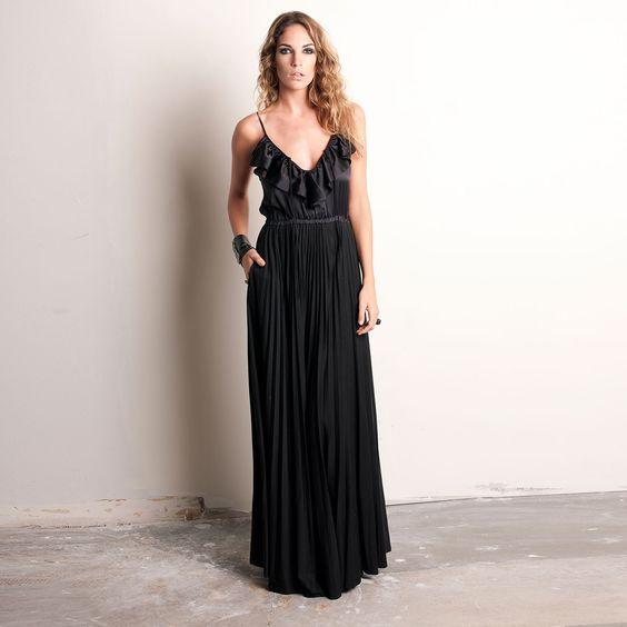 Fab.com | Mix Maxi Dress Black: Maxi Dresses, Darling Dresses, Dress Black, Maxis, Black Design, Products