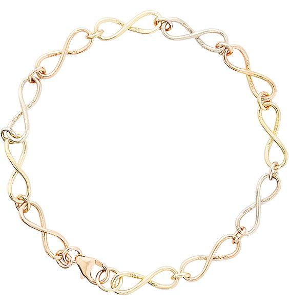 Tri Color Infinity Bracelet