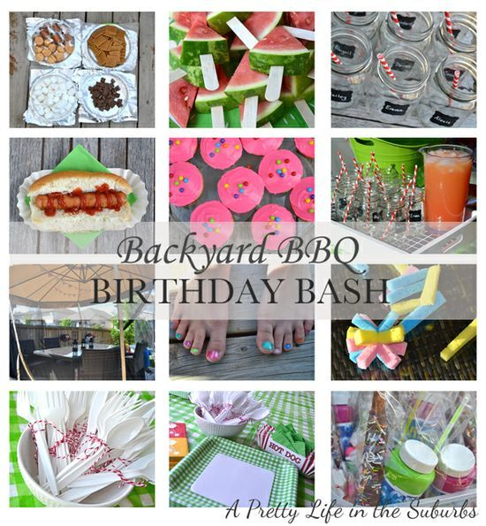 Amazing Birthday Ideas: Backyard BBQ Birthday Bash for kids! Lots of great ideas for a party for kids.