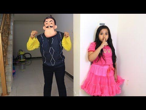 شفا تريد تكون صديقة الجار الغاضب Shfa Try To Be A Friends With Hello Neighbour Youtube Kurti Neck Designs Cute Funny Baby Videos Blouse Designs