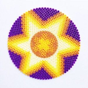 Hama Bead Mandala Design by Merry Raymond - Patch Of Puddles