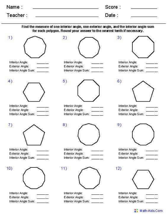 angles of regular polygons worksheets teaching pinterest geometry worksheets geometry and. Black Bedroom Furniture Sets. Home Design Ideas