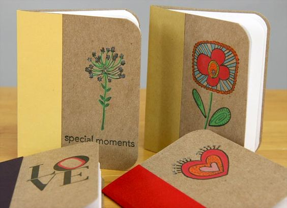 Mini Jot Journal--handmade  mini notebooks for purse or car made for pennies! #clubscrap