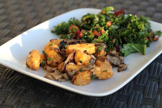 Sweet Potato Gnocchi with Mushrooms