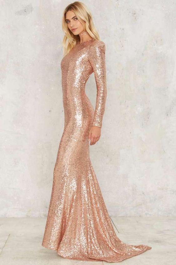 Zhivago Shine Down Maxi Dress - Metallics