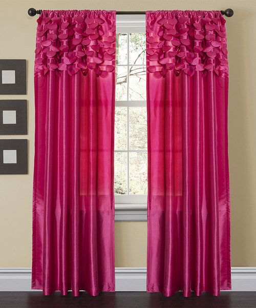 Add an element of elegance to décor and adorn a window with these classic curtains. With exquisite designs of embroidery and sequins alongside luxurious taffeta, this stylish treatment features a convenient built-in pocket that easily slides onto a rod for quick installation.