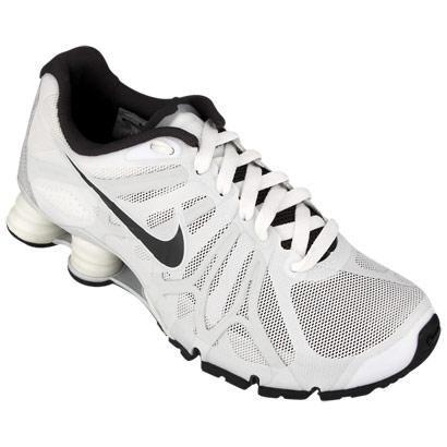 Tênis Nike Shox Turbo  13 W – Branco e Preto - http://batecabeca.com.br/tenis-nike-shox-turbo-13-w-branco-e-preto-netshoes.html