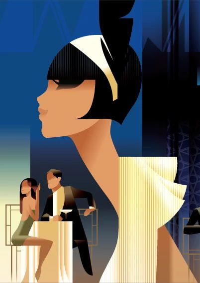 写真: decomanka.blogspot.com  Illustriations by Mats Berg - czyli współczesne plakaty w stylu retro, more-więcej >>> http://decomanka.blogspot.com/2013/04/mads-berg-ilustrator.html #illustrations  #ilustracje  #MatsBerg   #carnival   #poster  #vintage  #decomania  #retro  #plakat  #bloggers