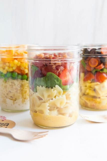 BLT Salad Jar: This BLT salad in a mason jar is the perfect lunch for your older ones who need something small and healthy.