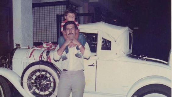 Pablo with Juan Pablo Escobar