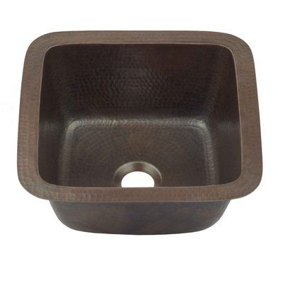 Sinkology 12 L X 12 W Undermount Bar Prep Sink In 2020 Prep Sink Sink Copper Bar