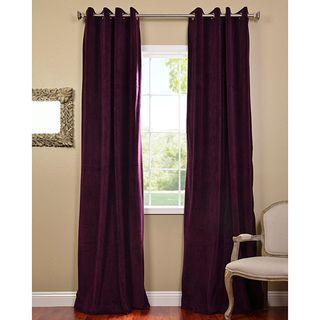Exclusive Fabrics Eggplant Grommet Velvet Blackout Curtain Panel By Exclusive Fabrics Blackout