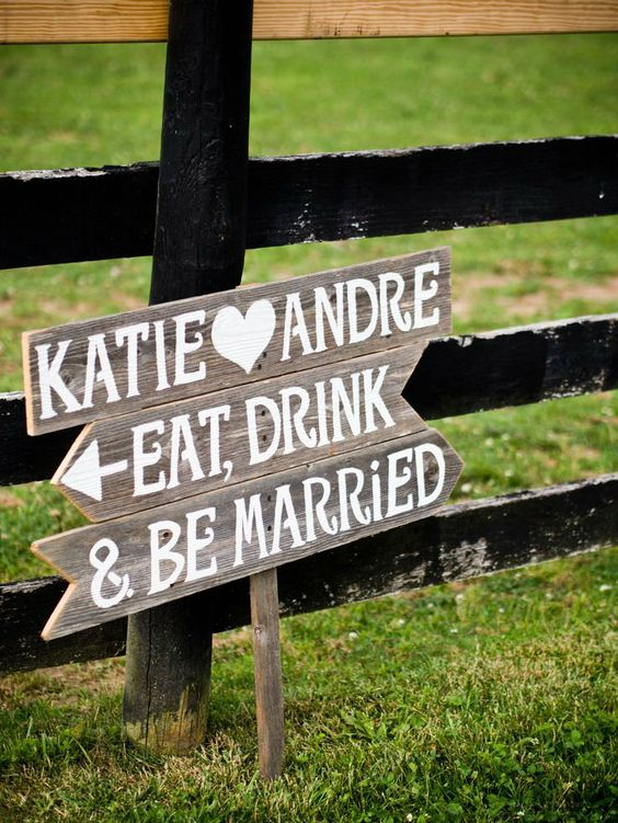 #wedding #signs - @V A King, this would be good to direct people into the reception!