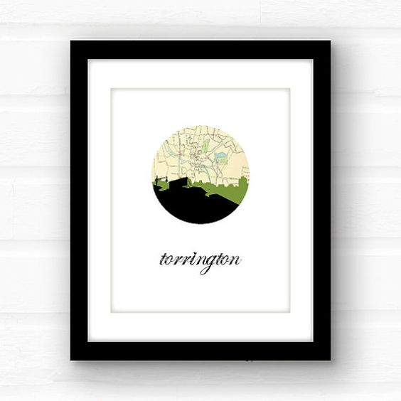 Torrington Connecticut print // Connecticut by PaperFinchDesign