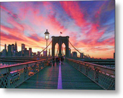 Brooklyn Metal Print featuring the photograph Brooklyn Sunset by Rick Berk