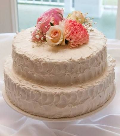 bj s bakery wedding cakes swirls amp flowers bj s small 2 layer cake wedding 11802