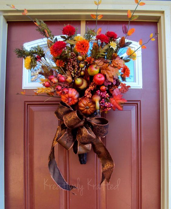 Cornucopia Wreath ~ Kreatively Krafted