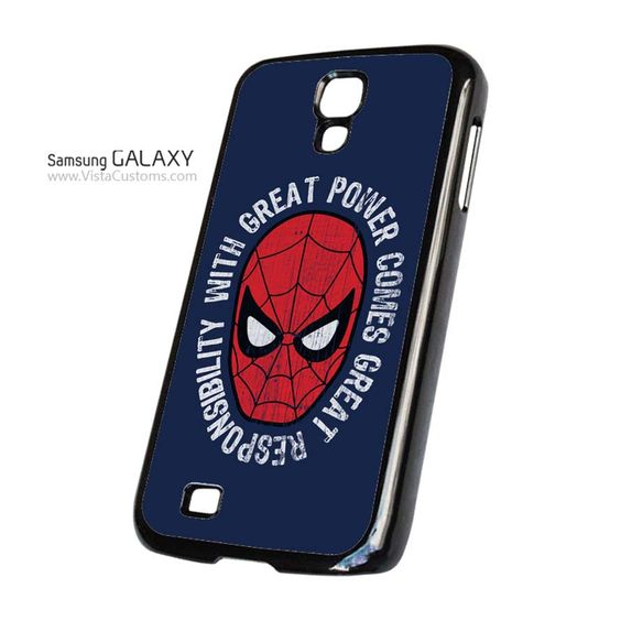 spiderman with great power comes great responsibility Phone Case For Apple, iphone 4, 4S, 5, 5S, 5C, 6, 6 +, iPod, 4 / 5, iPad 3 / 4 / 5, Samsung, Galaxy, S3, S4, S5, S6, Note, HTC, HTC One, HTC One X, BlackBerry, Z10