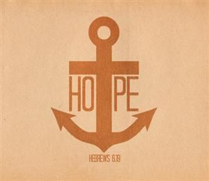 The anchor reminds me of the cross and ties in well anchored in Christ.