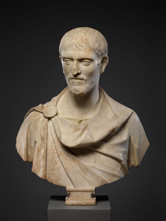 Marble Portrait Bust Of A Man Roman Late Imperial