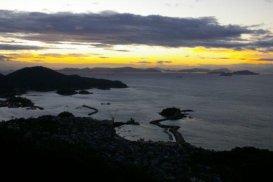 日の出前の鞆の浦