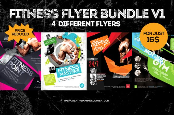 Crossfit Schedule Flyer Bundle Set by luis007 on @creativework247 - fitness flyer