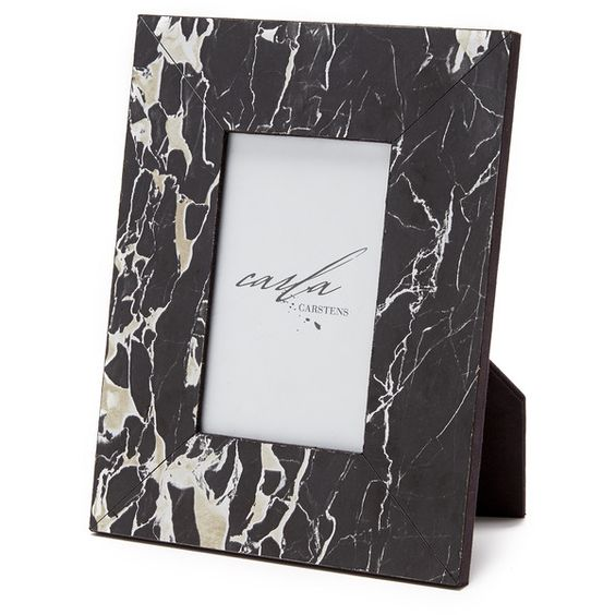 Carla Carstens Small Marble Frame ($68) ❤ liked on Polyvore featuring home, home decor and frames