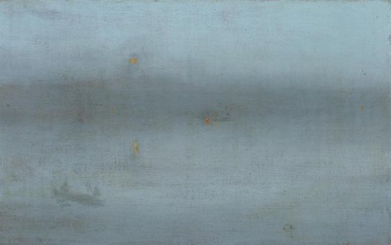 James Whistler. Nocturne, Blue and Silver: Battersea Reach. 1870s.: