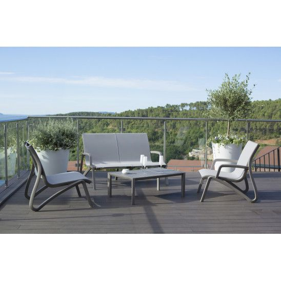 Canape Bas De Jardin Avec Accoudoirs Sunset 2 Places Salon De Jardin Design Meuble Jardin Salon De Jardin