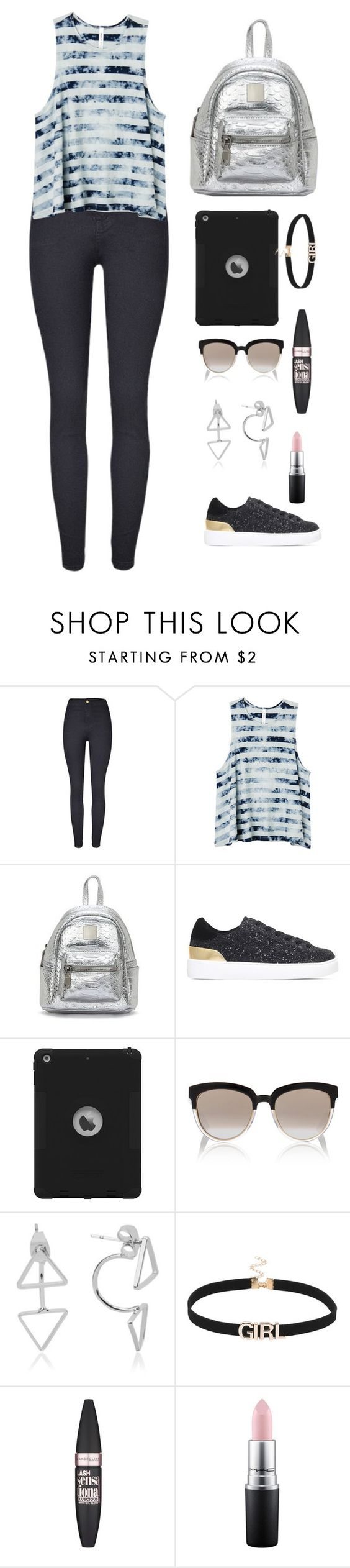 """""""Untitled #316"""" by keyling99 ❤ liked on Polyvore featuring RVCA, Nine West, Christian Dior, Maybelline and MAC Cosmetics"""