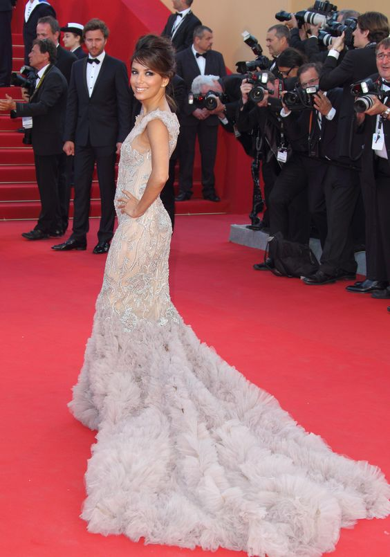 Eva Longoria arrives at the Opening Ceremony and Moonrise Kingdom Premiere part of the 65th Annual Cannes Film Festival at Palais des Festivals on May 16, 2012 in Cannes, France   Photo Credit: Mike Marsland, Getty Images/WireImage via StyleList