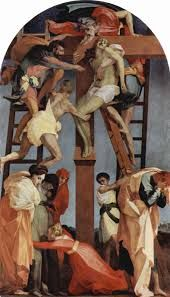Deposition (The Descent from the Cross) - Rosso Fiorentino.  1521.  Pinacoteca, Volterra, Italy.