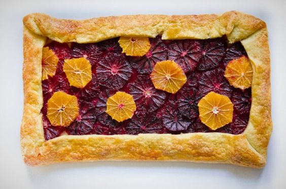 This Blood Orange and Clementine Galette is gorgeous.