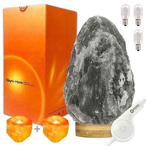 Himalayan Crystal Rock Salt USB Tea Light Holder Sel Naturel Lumière Naturelle
