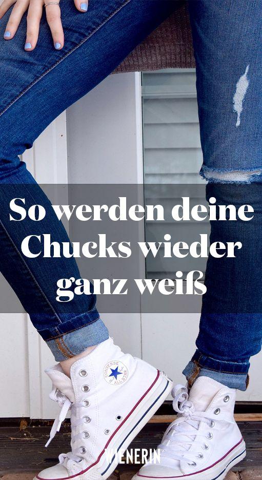 So werden deine Chucks wieder ganz weiß   Converse outfits