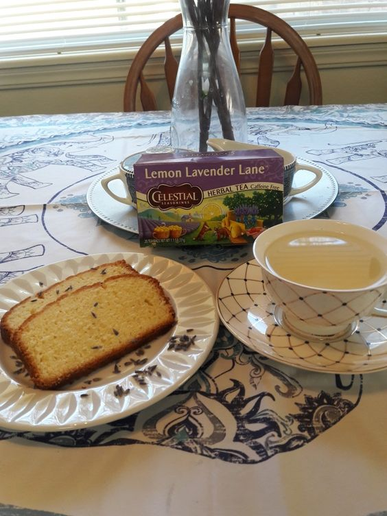 Lemon Lavender Lane Tea with Lemon Lust Loaf! Mmmmmm