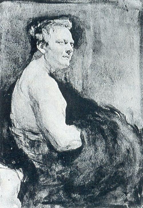 Russian artists Wanderers. Valentin Serov. Portrait of Fyodor Chaliapin. 1905
