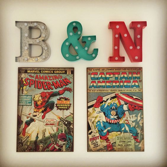 Boys playroom decor #playroom #boys #superhero #superherodecor #boysroom