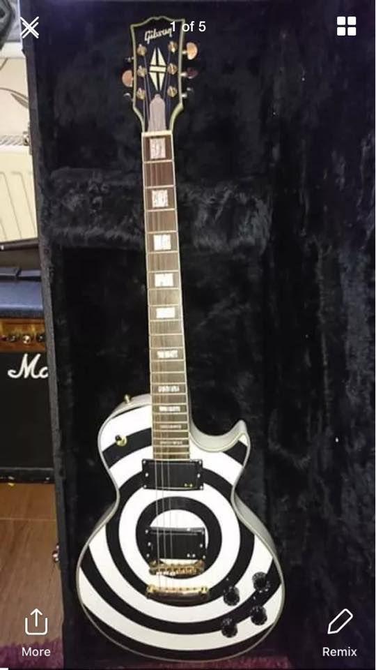 Https Www Facebook Com Zakk Wylde Bullseye Les Paul Zakk Wylde Epiphone Guitars Cool Guitar