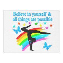 BELIEVE IN YOURSELF GYMNASTICS QUOTE FLEECE BLANKET http://www.zazzle.com/mysportsstar/gifts?cg=196751399353624165&rf=238246180177746410   #Gymnastics #Gymnast #WomensGymnastics #Gymnastgift #Lovegymnastics #Gymnastquote