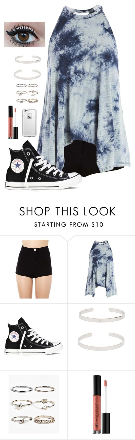 """""""summer time is finally here"""" by sophieelaine on Polyvore featuring Sans Souci, Converse, Vanessa Mooney, Boohoo, Anastasia Beverly Hills and LifeProof"""