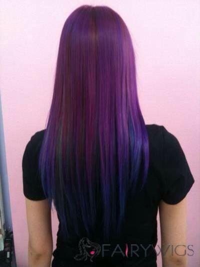 Cabello violeta ( violet)
