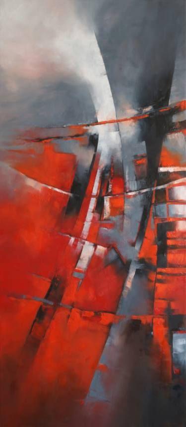 """Saatchi Art Artist Francisco Silva Torrealba; Painting, """"CITY IN GREY - SOLD"""" #art"""