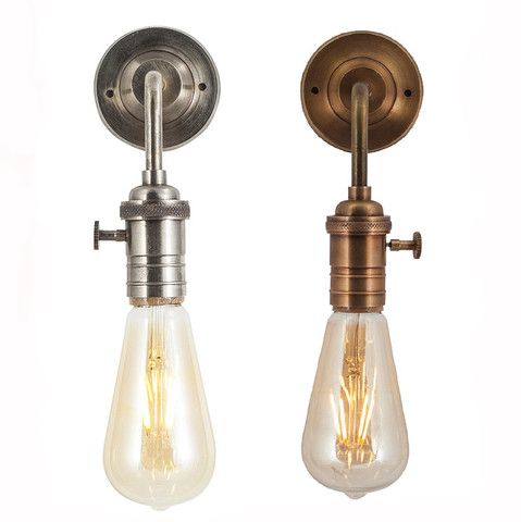 Vintage Edison Bulb Holder Barn Light - Wall Sconce - Brass or Pewter Industville Lighting ...