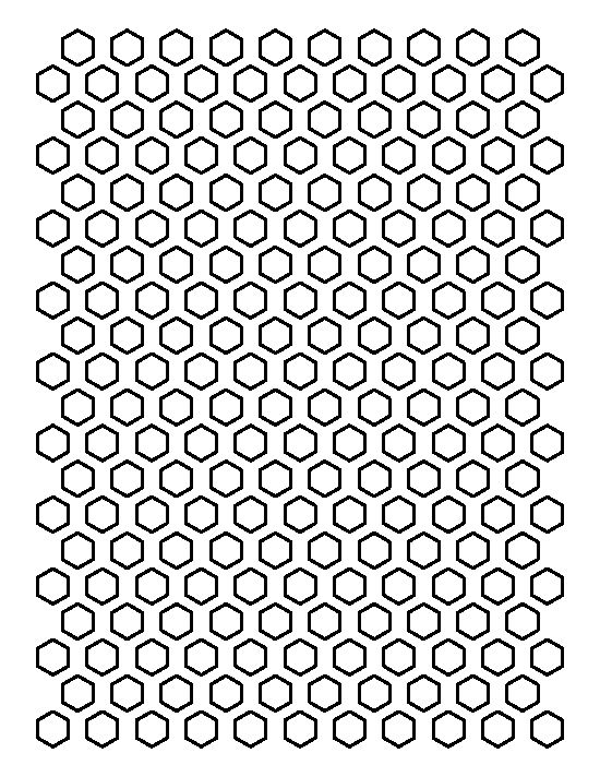 1\/2 inch hexagon pattern Use the printable outline for crafts - hexagon graph paper
